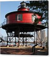 Seven Foot Knoll Lighthouse - Baltimore Harbor Canvas Print