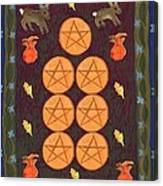 Seven Of Pentacles Canvas Print