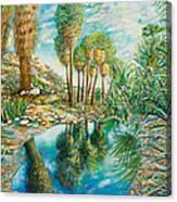Seven Palms Oasis Canvas Print