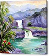 Seven Sacred Pools Canvas Print