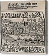 Sevilla In 1548. Xylography. Spain Canvas Print