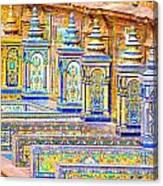 Seville And Plaza De Espana Canvas Print