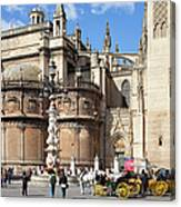 Seville Cathedral In The Old Town Canvas Print