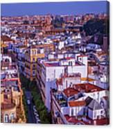 Seville Cityscape Canvas Print