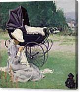 Sewing In The Sun, 1913 Canvas Print