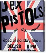 Sex Pistols First Us Appearance Canvas Print