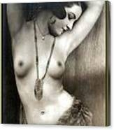 Sexy Nude Dark Green Border  Canvas Print