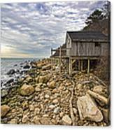 Shack On The Sound Canvas Print