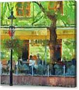 Shaded Cafe Canvas Print