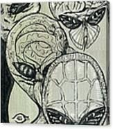 Shades Of Grays Three Canvas Print