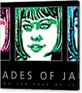 Shades Of Jade Poster Canvas Print