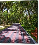 Shadow Alley In Sun Island Resort. Maldives  Canvas Print