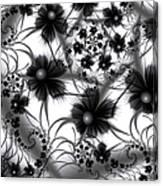 Shadow Flowers Canvas Print