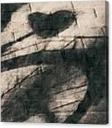 Shadow Heart Chalk 1 Hp Canvas Print