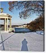 Shadow In The Snow Canvas Print