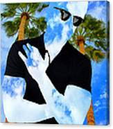 Shadow Man Palm Springs Canvas Print