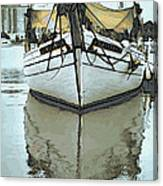 Shadow Of Boat Canvas Print