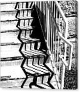 Shadow Of Handrail Canvas Print
