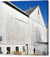 Shadow On White Barn Canvas Print