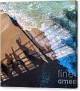 Shadows Day At The Beach Canvas Print