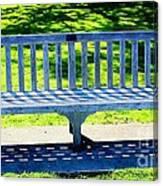 Shadows Of A Park Bench Canvas Print