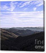 Shadows Of The Mountains Canvas Print