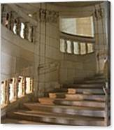 Shadows On Chateau Chambord Stairs Canvas Print
