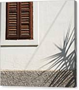Shadows On Old House. Canvas Print