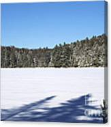 Shadows On The Lake Canvas Print