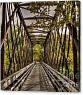 Shadows On The Walking Bridge Canvas Print
