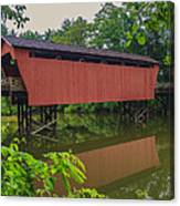Shaeffer Or Campbell Covered Bridge Canvas Print