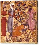Shahnameh. The Book Of Kings. 16th C. A Canvas Print