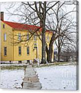 Shaker House - Mustard Canvas Print