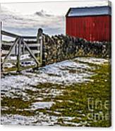 Shakertown Red Barn Canvas Print