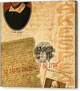 Shakespeare 2 Canvas Print