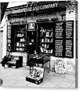 Shakespeare And Company Boookstore In Paris France Canvas Print