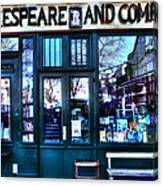 Shakespeare And Company Paris France Canvas Print