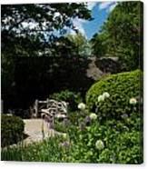 Shakespeares Garden Central Park Canvas Print