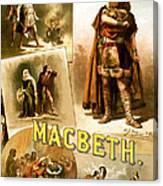 Shakespeare's Macbeth 1884 Canvas Print