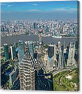 Shanghai Aerial View Over Pundong Canvas Print