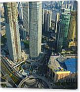 Shanghai From Above Canvas Print