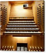 Shanghai Organ Console Canvas Print