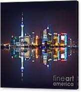Shanghai Reflections Canvas Print