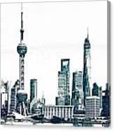Shanghai Skyline Canvas Print