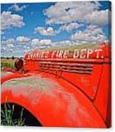 Shaniko Fire Truck Canvas Print