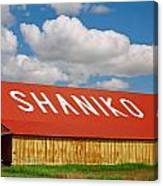 Shaniko Sky And Building Canvas Print