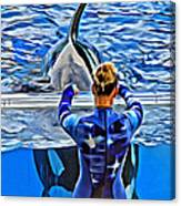Shapely Orca Canvas Print