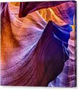 Shapes In The Canyon Canvas Print