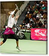 Sharapova At Qatar Open Canvas Print