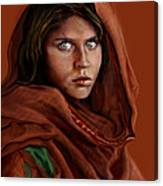Sharbat Gula Canvas Print